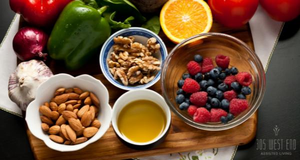 assortment of anti-inflammatory foods