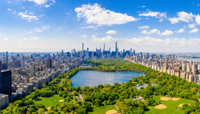 Aerial view of Central Park, Manhattan, New York